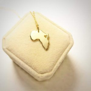 18kt Gold Africa Necklace
