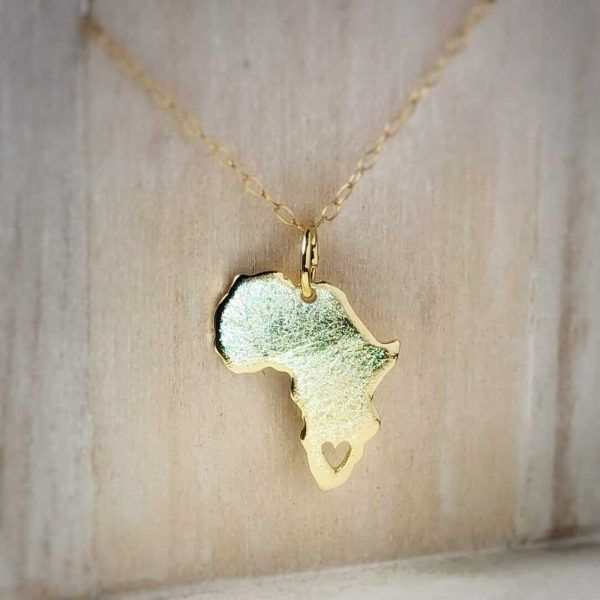 Africa Map Pendant