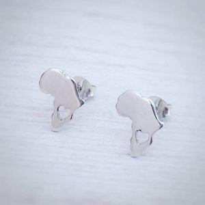 earrings with africa shape