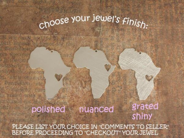 finishes of africa map nekclaces