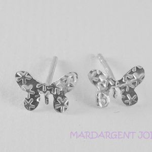 butterfly Earrings Stars in silver