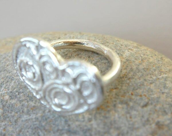 heart ring handmade with silver