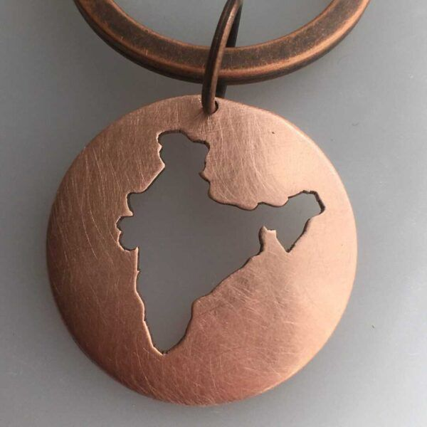 india map keychain detail