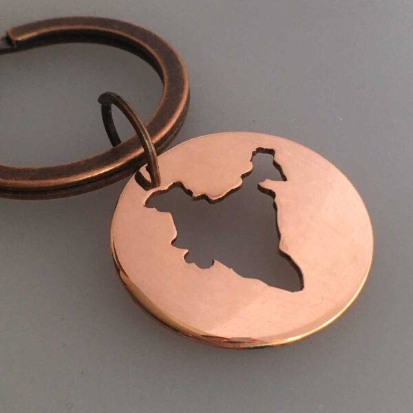 india keychain map