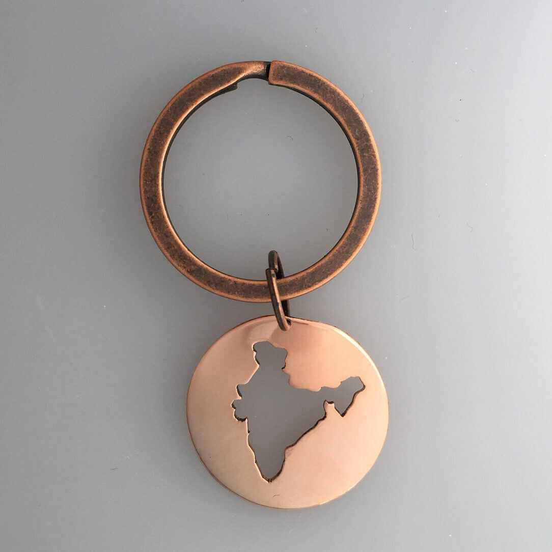 india keychain in copper