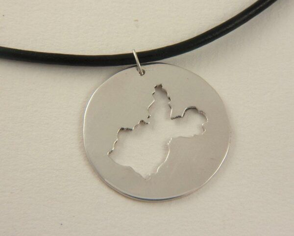 Irkutsk Map Necklace