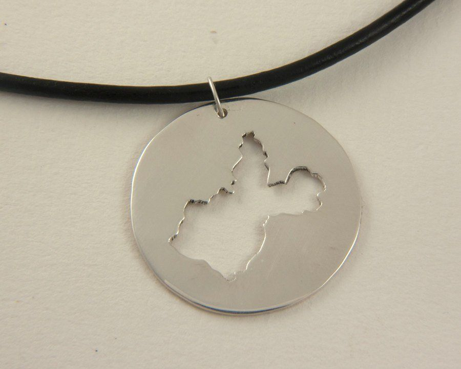 Irkutsk Map Necklace