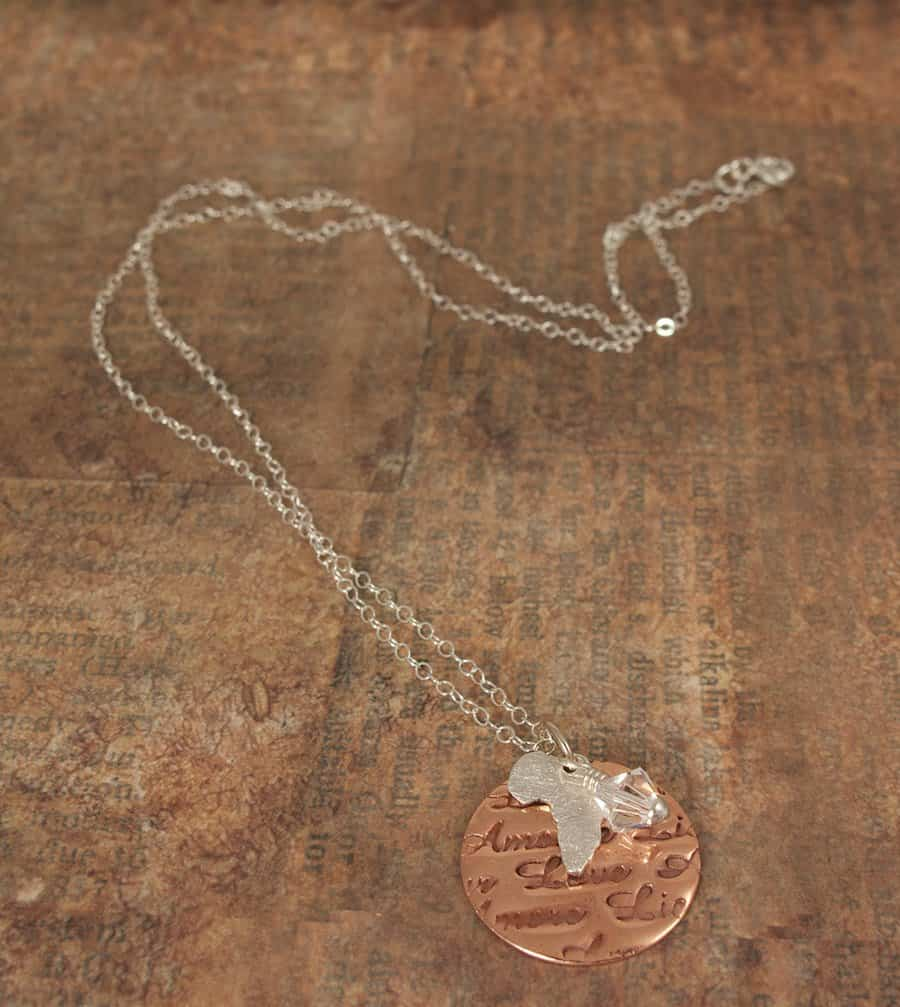 Love Africa Map Necklace