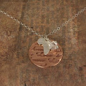 Africa Necklace with Love words