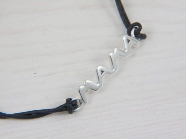 mama bracelet in silver
