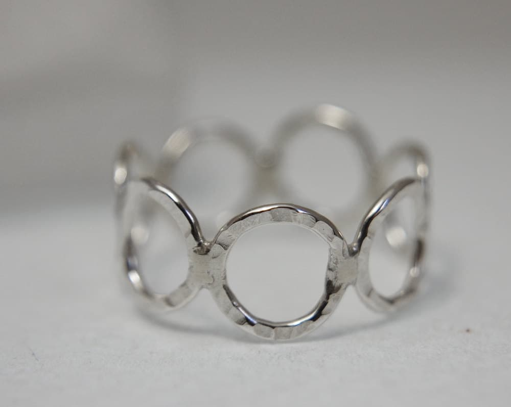 Silver ring textured