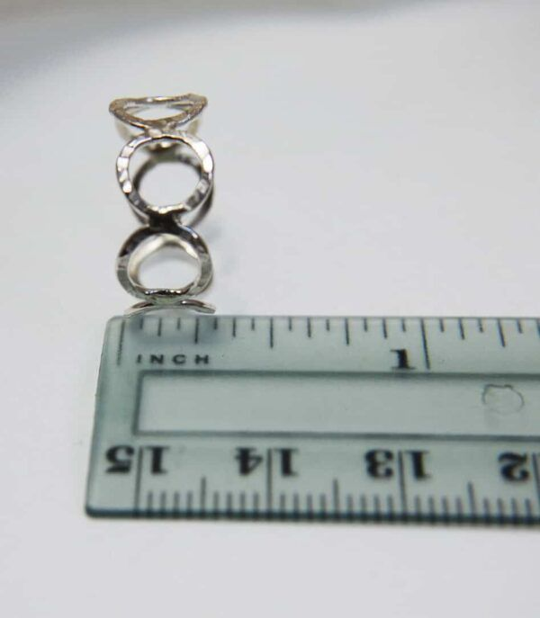 sterling silver ring with circles