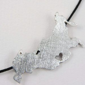 russia map necklace