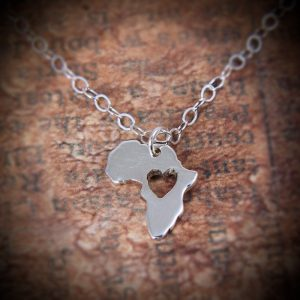 Silver Africa Pendant tiny