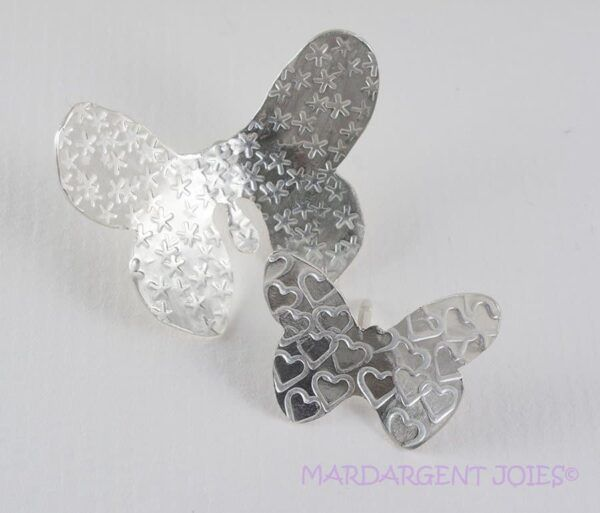 Silver Brooches Butterfly