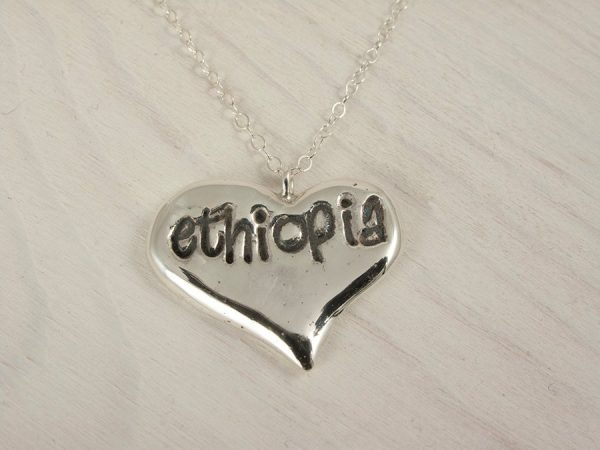 silver Ethiopia Necklace handmade by AfricanDreamland