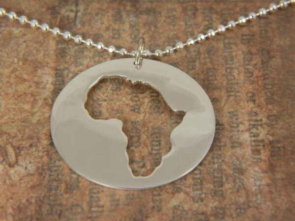 Silver Round Africa Necklace