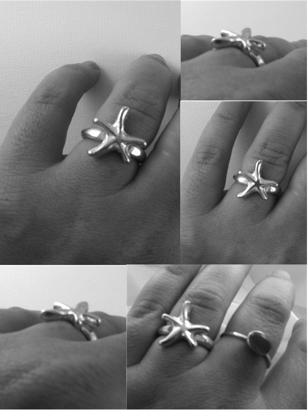 starfish ring detail
