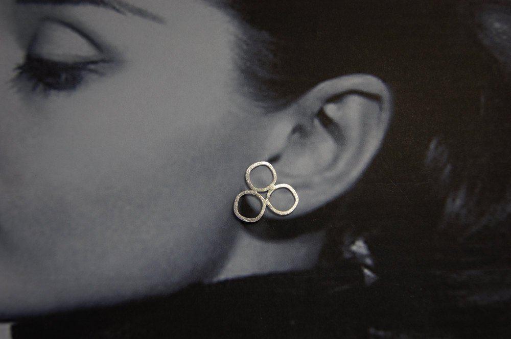 wedding earrings in silver