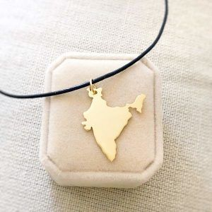 Gold India Necklace handmade by AfricanDreamland