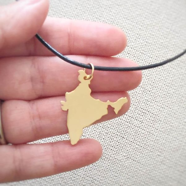 Gold India Pendant handmade by AfricanDreamland