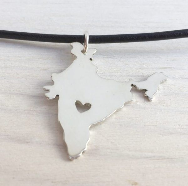 silver india necklace