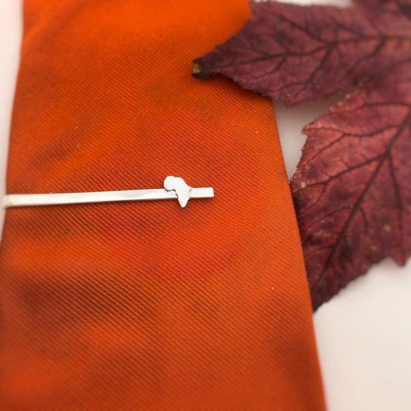 Silver Africa Tie Pin made by AfricanDreamland Jewelry