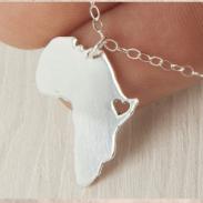 africa necklace argentium silver