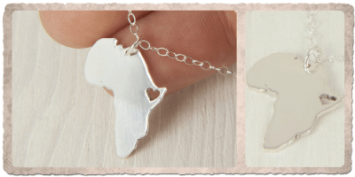 africa necklace silver handmade by AfricanDreamland