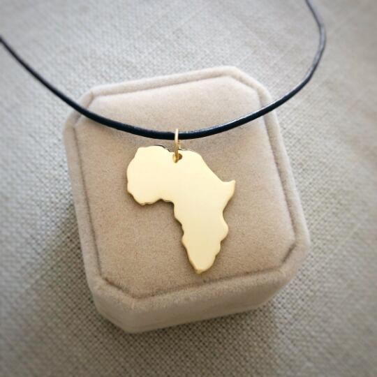 gold africa big necklace