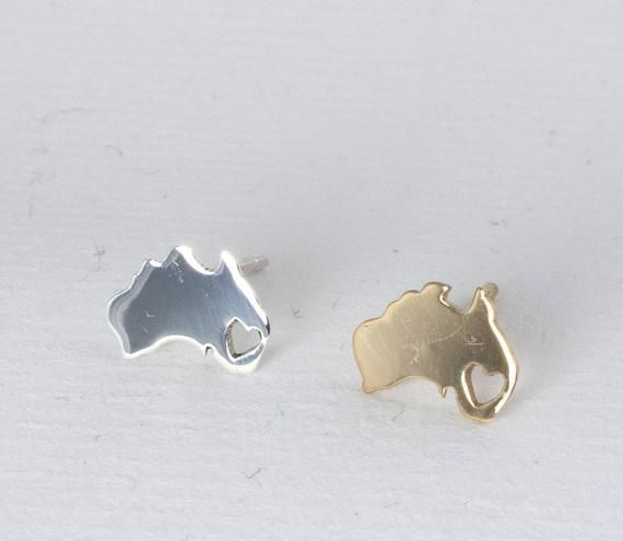 Australia Earrings Map