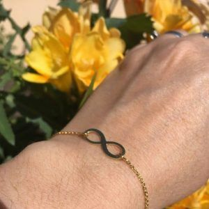Infinity Bracelet Initial 18kt Gold Plated