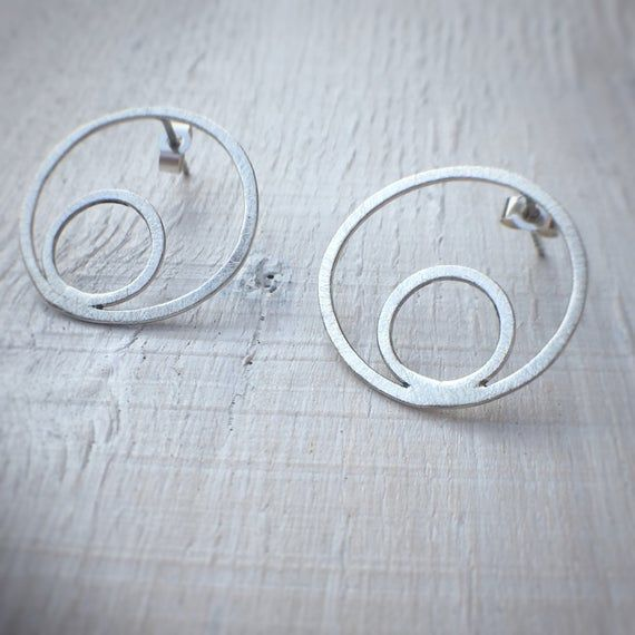 Silver rounds earrings by AfricanDreamland Jewelry