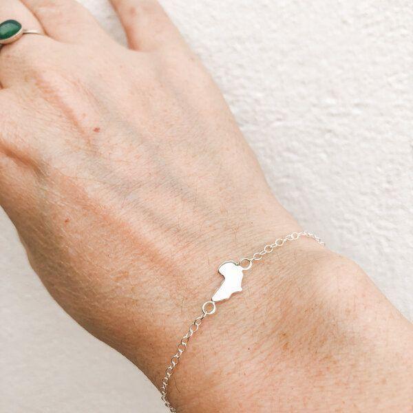silver africa bracelet